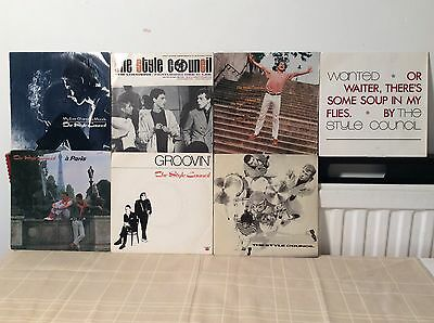 "The Style Council (Paul Weller-The Jam) - Collection of SEVEN 7"" Vinyl Singles"