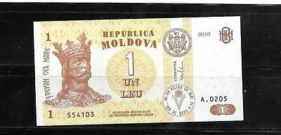 Moldova #8H 2010 Unc Leu New Currency Banknote Bill Note Paper Money