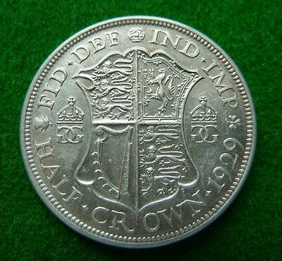 1929 George V  Halfcrown - Aef