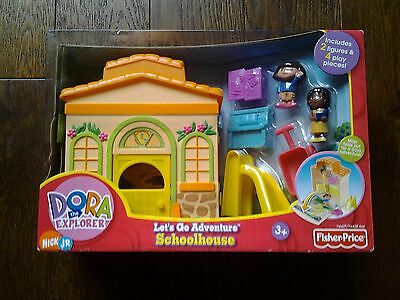 Fisher Price   Dora The Explorer Let's Go Adventures Schoolhouse .age 3+