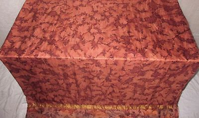Pure silk Antique Vintage Sari Saree Fabric REUSE 4y Fti Brown CURTAINS #AC25H
