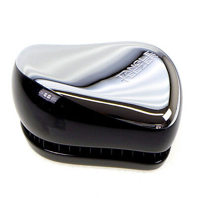 Tangle Teezer Brush Compact Detangling Hairbrush Styler Silver Metallic