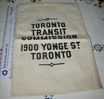 for sale, a vintage used TTC coin/token canvas bag.