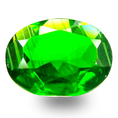 1.54 ct AAA+ Incomparable Oval Shape (9 x 7 mm) Green Chrome Diopside Gemstone