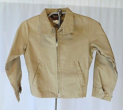 Vintage Kids Boys sz 8 Windbreaker Jacket Coat 60s 70s dead Stock