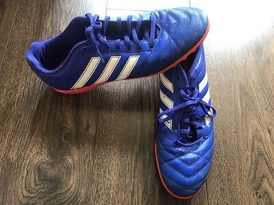 Boys Men Adidas Trainers. Football Shoes .Size 10/ 44. Laces.Blades/Studs Blue