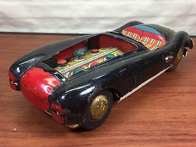 Vintage 1950's 1960's Tin Litho Friction Toy Car Made In Japan