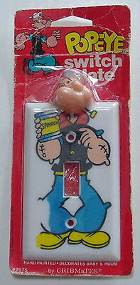 Popeye Cribmates 1979 Light Switch Plate Cover NIP King Feature Syndicate RARE