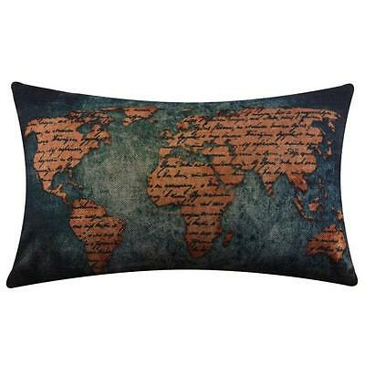 Linen Square Throw Flax Pillow Case Decorative Cushion Pillow Cover O1