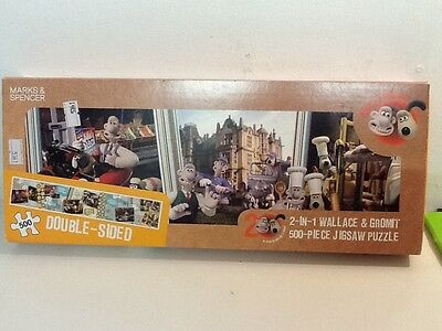 Wallace And Gromit 500 Piece 2 In 1 Jigsaw Puzzle By Marks And Spencer -Complete