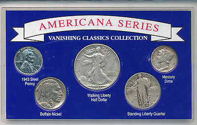 Us Americana Series Vanishing Classics Coin Collection In Plastic Lens