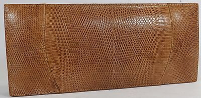 Vintage Small Brown Leather and Snakeskin Clutch Bag / Purse