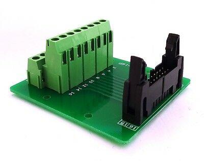 IDC-16 Male Header Connector Breakout Board Adapter : £12.75 FREE p&p