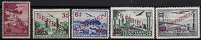 German Occupation Of Serbia ( Ww2 ) - Airmail New Value Ovpt. Complete Set