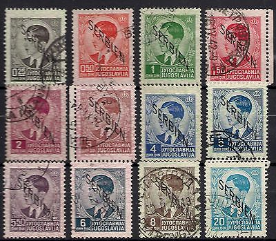 German Occupation Of Serbia ( Ww2 ) - Definitives - Lot Of Real Used Stamps