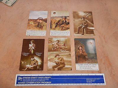 Lot Of 6 Original Ww I Postcards - Us Army Soldiers Mail