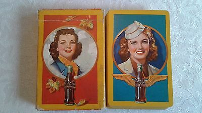 Vintage 1943 Coca Cola Wwii Playing Cards