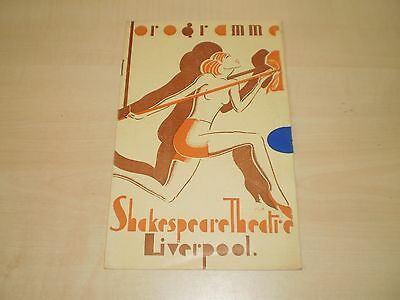 August 1938 Liverpool Shakespeare Theatre Programme With Local Adverts