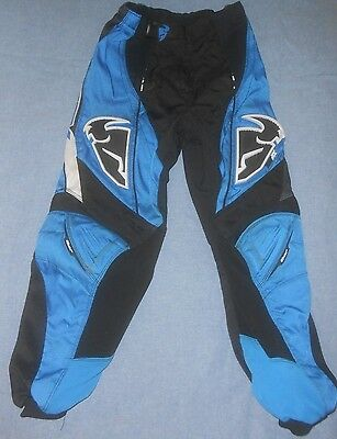 PHASE Motocross PANT protective systems blue black sz Youth Y 26