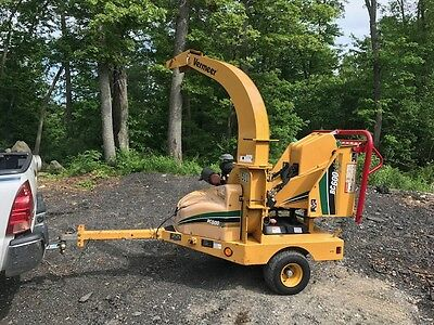 "2011 Vermeer Bc-600Xl Tow Behind 6"" Wood Chipper  27 Hp Kohler 606 Hrs Auto Feed"