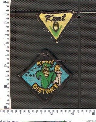 2 Vintage used Scouts Canada shoulder patches from Kent County.
