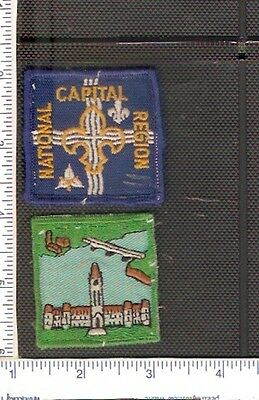 2 Vintage used Scouts Canada shoulder patches from the Capital Region.