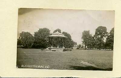 Gloucester Park.  Bandstand. Gloucestershire