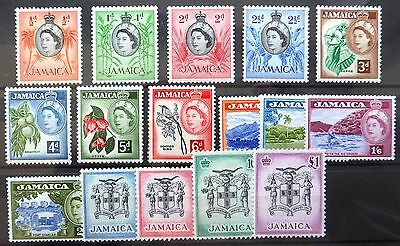 JAMAICA 1956 to £1 SG159-174 Mounted Mint NB1590