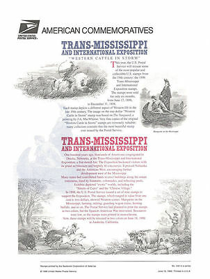 #540 1c-$2.00 Trans-Mississippi Centennial #3209-3210 Commemorative Stamp Panel