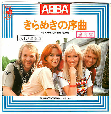 Abba - The Name Of The Game / I Wonder - Very Rare! Japan Promo 45'ps