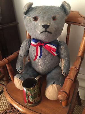 French Antique Bear Circ Late 1930 BLUE.