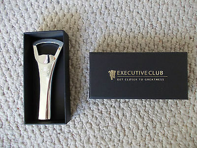 Manchester United executive club new boxed silver bottle opener
