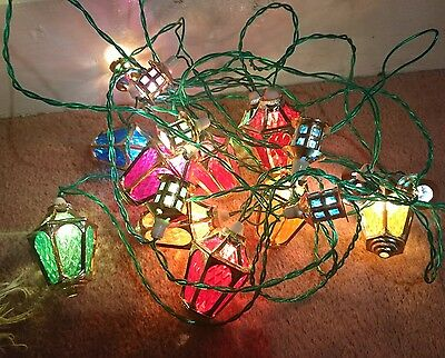 20 Vintage Pifco London Lanterns Christmas Lights All Working