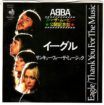 Abba - Eagle / Thank You For The Music - Very Rare! Japan Promo 45'ps