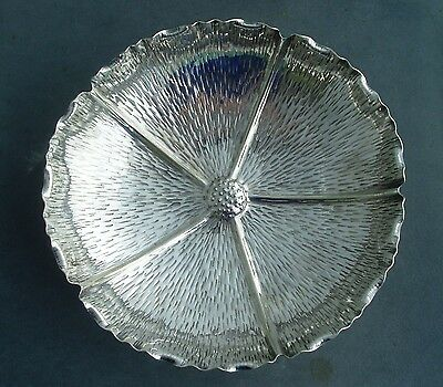 Aesthetic Movement Silver Plated Poppyhead Flower Design Dish - Hukin & Heath?