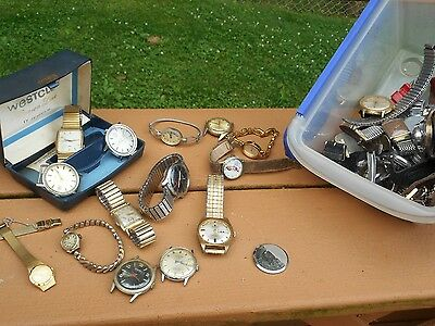 #4 HUGE LOT OLD Watches Parts 4 POUNDS WORTH!!!!