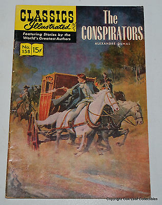 Classics Illustrated Comic Book 158 The Conspirators HRN 156 1st Edition VG 1960