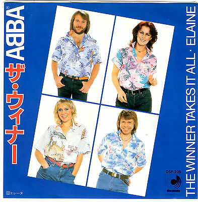 Abba - The Winner Takes It All / Elaine - Very Rare! Japan 45'ps