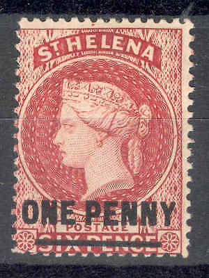 ST.HELENA. 1887, 1d Red.VARIETY. Mint. SEE ITEM SPECIFICS BELOW
