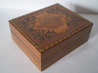 Antique, Wooden Small Tunbridge Ware Box,  Would Make Ideal Jewellery Box