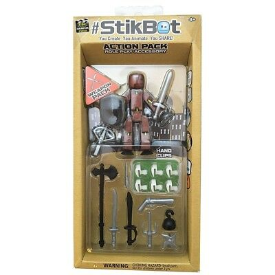StikBot Action Pack Weapon Accessories - Brand New!