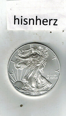 2010 American Silver Eagles--1 Troy Ounce .999 Fine Silver Coin-NOT UNCIRCULATED