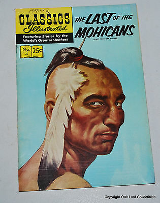 Classics Illustrated 4 1969 Gilberton Last of The Mohicans HRN 169 Severin art!