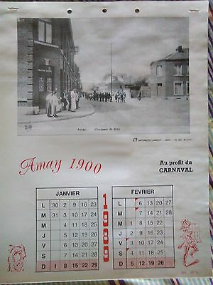 Calendrier Amay 1900