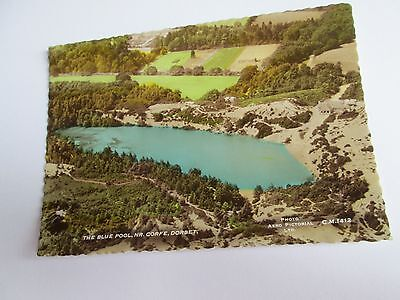 Postcard of The Blue Pool, Nr Corfe, Dorset CM1412 RP unposted Aero pictorial