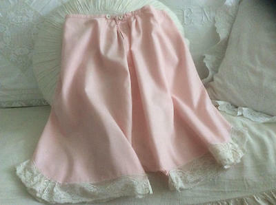 ~*Pretty in Pink Vintage French Lace Trim French Knickers*~