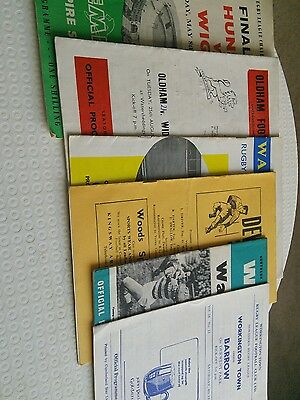 Rugby League Programmes 1960s x 6