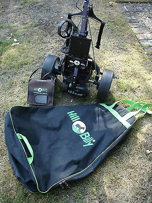 Hillbilly Electric Golf Trolley, Plus Battery. Good Clean Condition