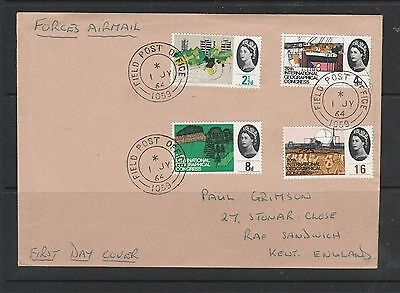 GB FDC 1964 Geographical Ord, FPO 1059 cds ( Malaysia ), hand addressed