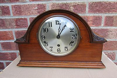1920-30s Oak 8 Day Westminster and Whittington Dual Chime Mantle Clock